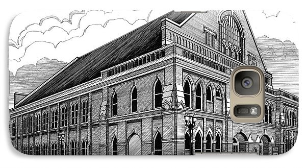 Galaxy Case featuring the drawing Ryman Auditorium In Nashville Tn by Janet King