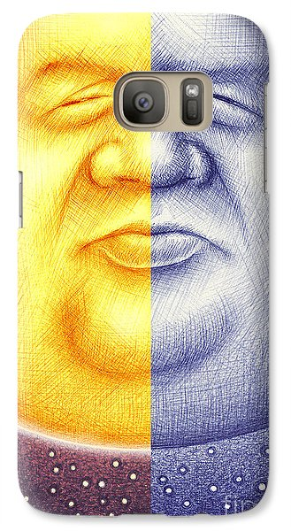 Galaxy Case featuring the digital art S O L U N A  by Cristophers Dream Artistry