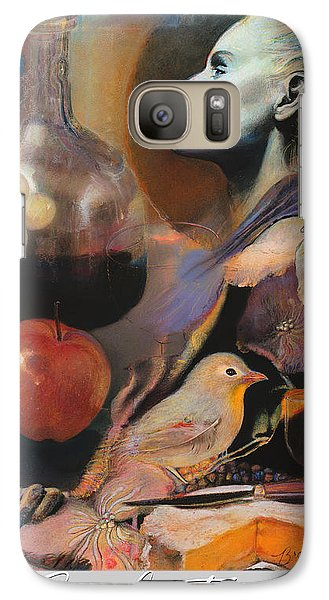 Galaxy Case featuring the mixed media Soul Food - With Title And Light Border by Brooks Garten Hauschild