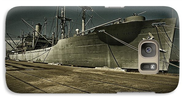 Galaxy Case featuring the photograph S. S. Lane Victory ... W W 2 Era Victory Class Cargo Ship by Chuck Caramella