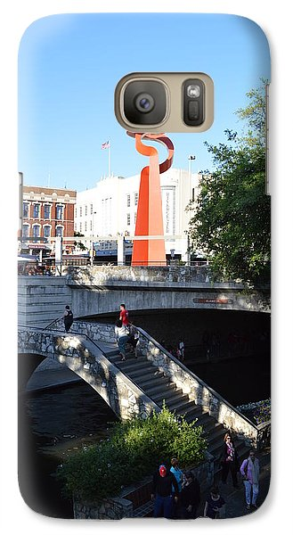 Galaxy Case featuring the photograph Sa River Walk by Shawn Marlow