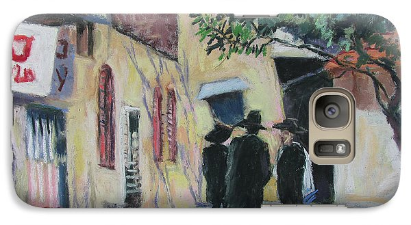 Galaxy Case featuring the painting Sabbath In Jeruselem by Linda Novick