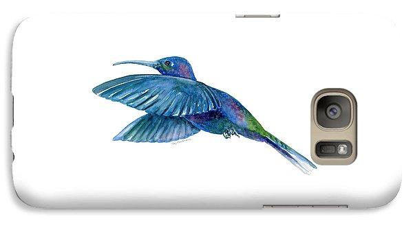 Sabrewing Hummingbird Galaxy Case by Amy Kirkpatrick