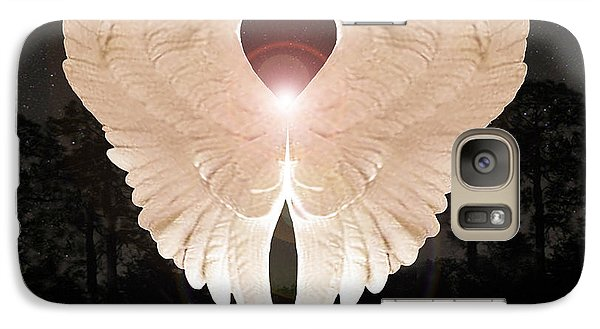 Galaxy Case featuring the digital art Sacred Angel by Eric Kempson