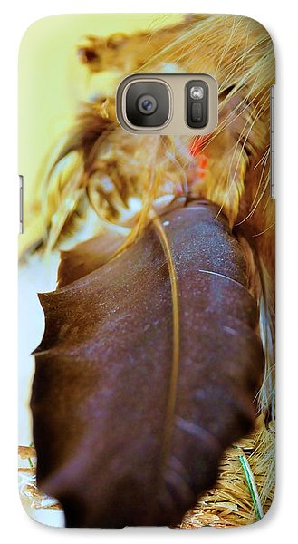 Galaxy Case featuring the digital art Sacred Eagle Feather  by Kicking Bear  Productions