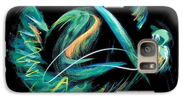Galaxy Case featuring the painting Sacred Feather Dance by Asha Carolyn Young