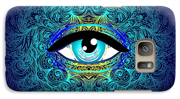 Magician Galaxy S7 Case - Sacred Geometry Symbol With All Seeing by Gorbash Varvara