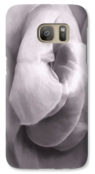 Galaxy Case featuring the photograph Sacred Rose by Jean OKeeffe Macro Abundance Art