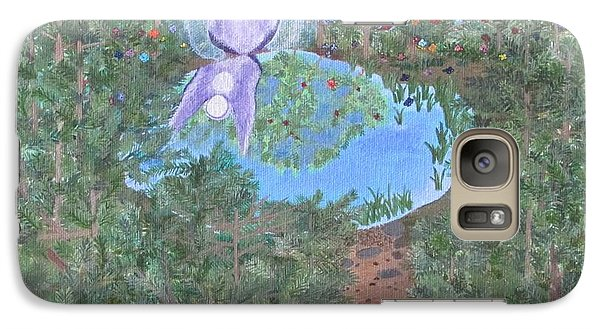 Galaxy Case featuring the painting Sacred Oasis by Cheryl Bailey