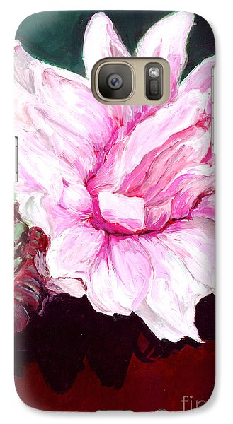 Galaxy Case featuring the painting Sacred Pink Lotus  by Mukta Gupta