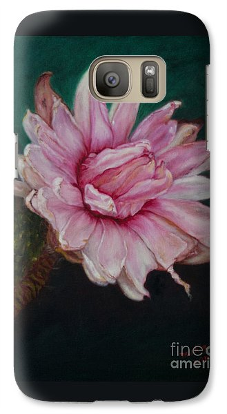 Galaxy Case featuring the painting Sacred Red Lotus by Mukta Gupta
