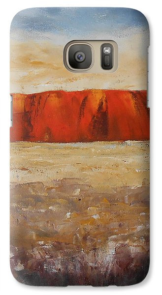 Galaxy Case featuring the painting Sacred Rock by Jane  See