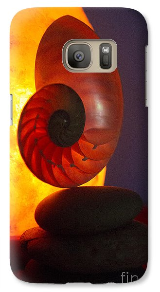 Galaxy Case featuring the photograph Sacred Spiral 3 by Jeanette French
