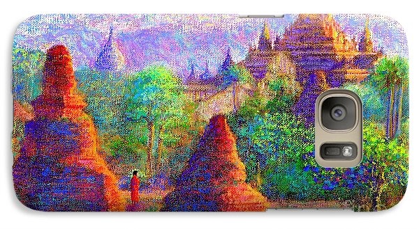 Galaxy Case featuring the painting Bagan, Burma, Sacred Spires by Jane Small