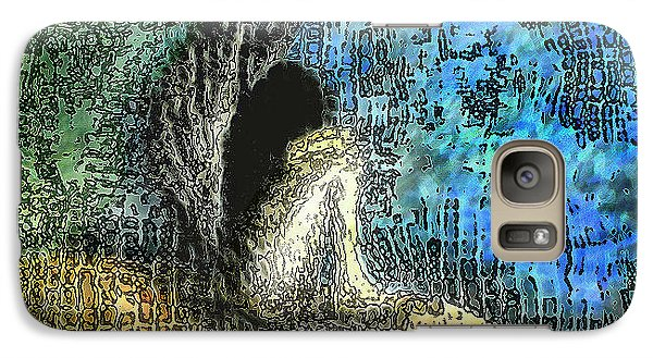 Galaxy Case featuring the digital art Sad Angel by Shabnam Nassir