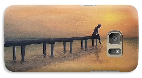 Galaxy Case featuring the painting Sad Giant by Edwin Alverio