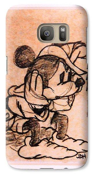 Galaxy Case featuring the drawing Sad Mickey by Joseph Hawkins