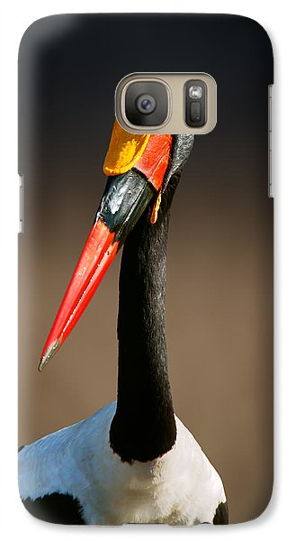 Stork Galaxy S7 Case - Saddle-billed Stork Portrait by Johan Swanepoel