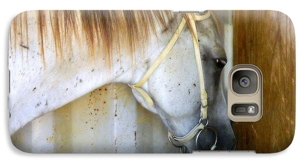 Galaxy Case featuring the photograph Saddle Break by Kathy Barney