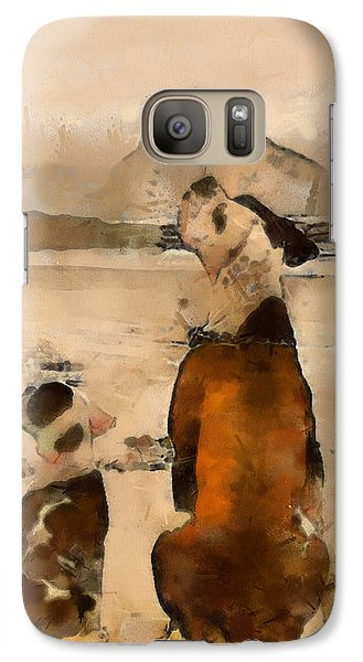 Galaxy Case featuring the painting Sadness  by Georgi Dimitrov