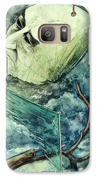 Galaxy Case featuring the painting Sadness Of No by Mikhail Savchenko
