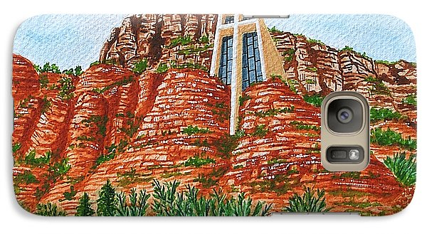 Galaxy Case featuring the painting Sadona Church by Val Miller