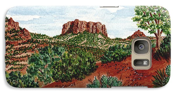 Galaxy Case featuring the painting Sadona Two Mountains by Val Miller