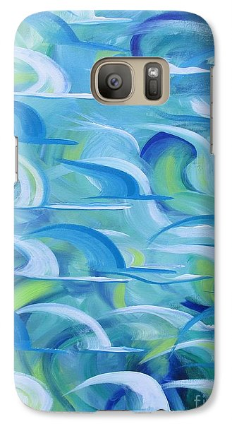 Galaxy Case featuring the painting Safe Beneath The Wings by Nereida Rodriguez