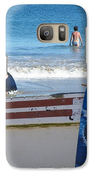 Galaxy Case featuring the photograph Safe To Go In The Water by Brian Boyle