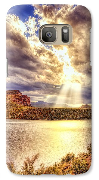 Galaxy Case featuring the photograph Saguaro Sun Rays  by Anthony Citro