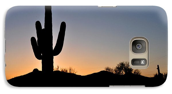 Galaxy Case featuring the photograph Saguaro Sunset by Diane Lent
