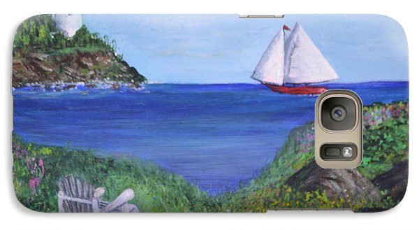 Galaxy Case featuring the painting Lighthouse View by Debbie Baker