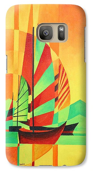 Galaxy Case featuring the painting Sail To Shore by Tracey Harrington-Simpson