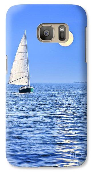 Sailboat At Full Moon Galaxy S7 Case