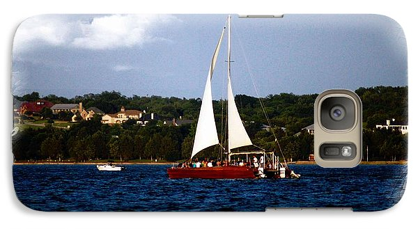Galaxy Case featuring the photograph Sailboat At Lake Ray Hubbard by Kathy Churchman