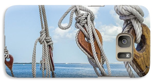 Galaxy Case featuring the photograph Sailboat Deadeyes 2 by Leigh Anne Meeks