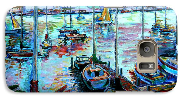 Galaxy Case featuring the painting Sailboat Harbor by Stan Esson