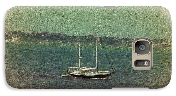 Galaxy Case featuring the digital art Sailboat In Bay by Terry Cork