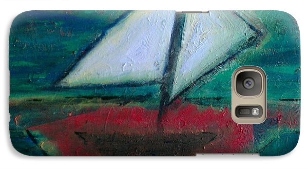 Galaxy Case featuring the painting Sailboat by Jacqueline McReynolds