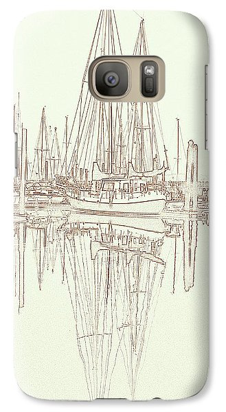 Galaxy Case featuring the photograph Sailboat On Liberty Bay by Greg Reed