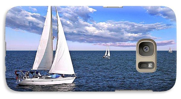 Sailboats At Sea Galaxy S7 Case