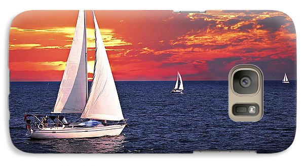 Boat Galaxy S7 Case - Sailboats At Sunset by Elena Elisseeva