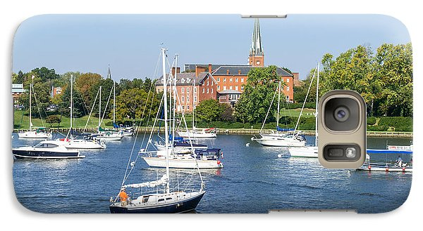 Galaxy Case featuring the photograph Sailboats By Charles Carroll House by Charles Kraus