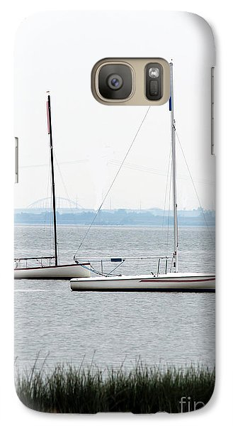 Galaxy Case featuring the photograph Sailboats In Battery Park Harbor by David Jackson