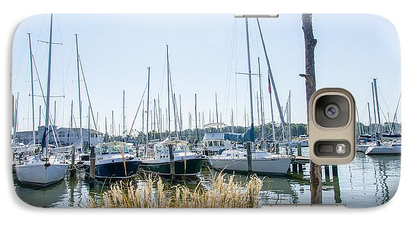 Galaxy Case featuring the photograph Sailboats On Back Creek by Charles Kraus