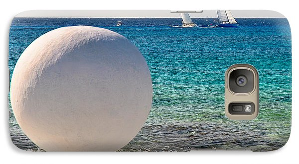 Galaxy Case featuring the photograph Sailboats Racing In Cozumel by Mitchell R Grosky