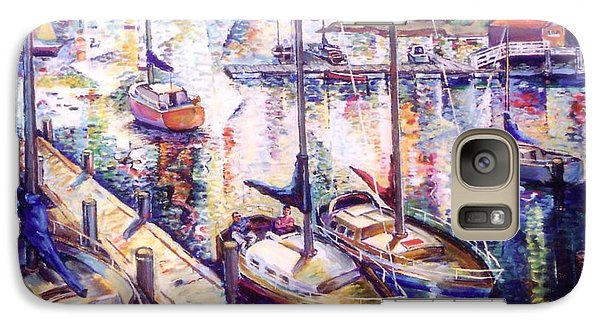 Galaxy Case featuring the painting Sailboats by Stan Esson