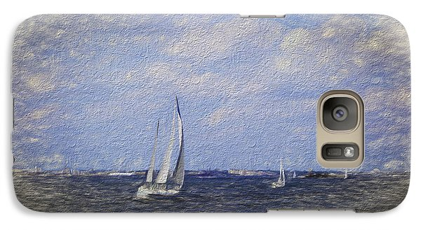 Galaxy Case featuring the digital art Sailboats by Terry Cork