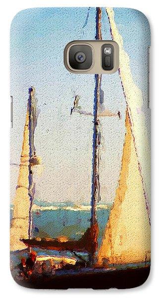 Galaxy Case featuring the digital art Sailing At Daytona by David Lane
