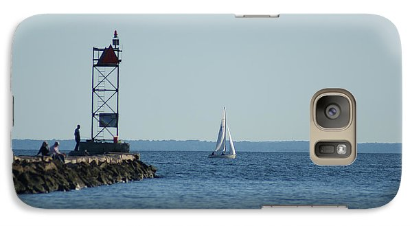 Galaxy Case featuring the photograph Sailing At Southport Harbor by Margie Avellino